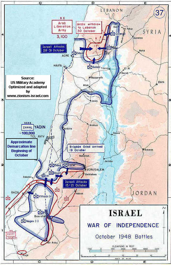 Historical Maps Of Israel And Palestine - Israeli map